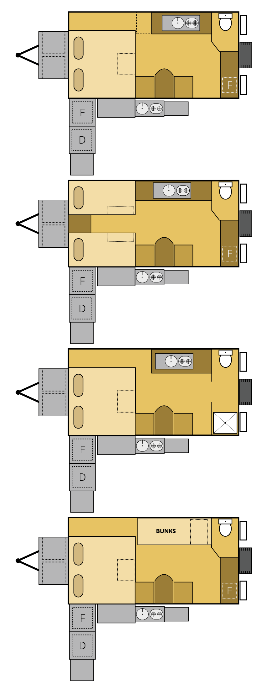 platinum offroad camper trailer floor plan