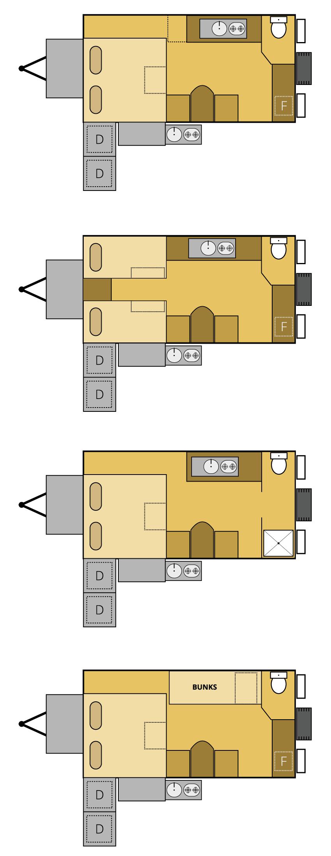 titanium offroad camper trailer floor plan