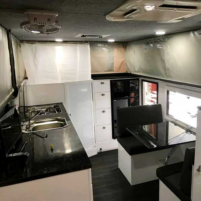 Expedition Truck Living Area