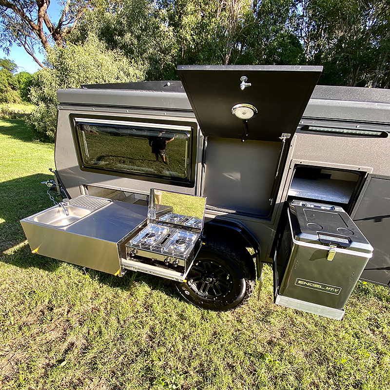 offroad rvs sniper x9 external fridge kitchen