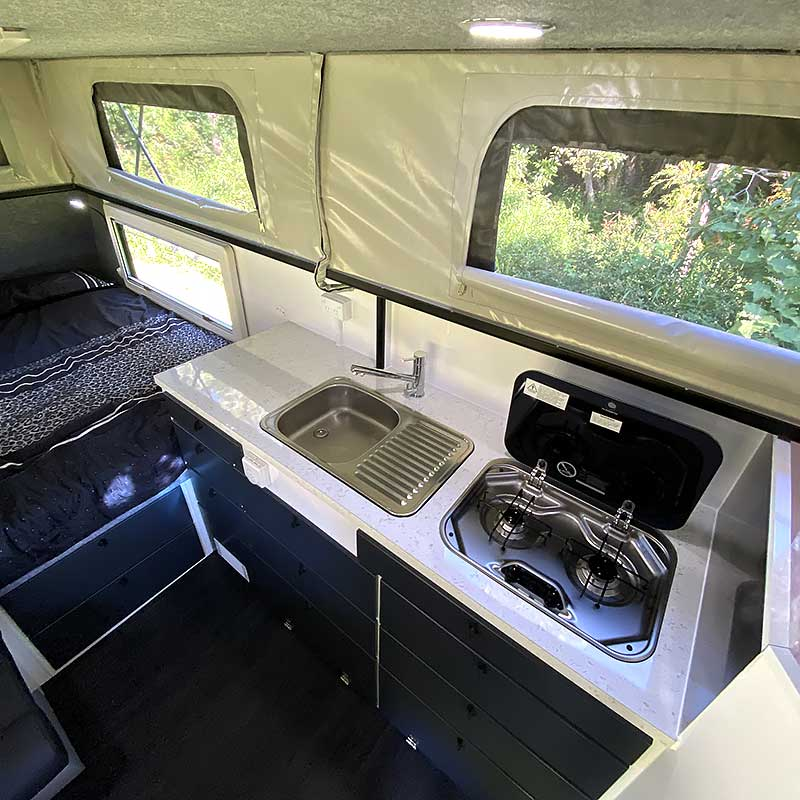 offroad rvs titanium kitchen bed