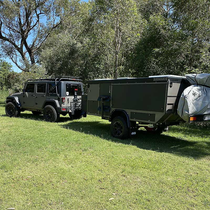 rvs x11 offroad camper trailer hitched